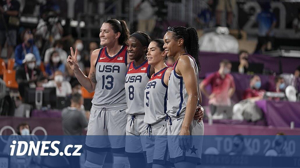 Američanky zdolaly Rusko a slaví první olympijské zlato v basketbale 3x3