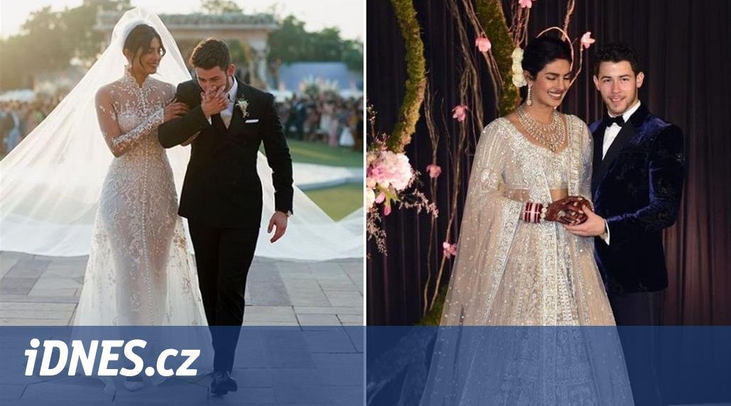 Svatební šaty Chopry  24 metrů dlouhá vlečka a dva miliony flitrů - iDNES.cz 1572bce3706