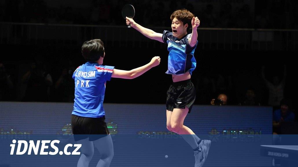 Stolní tenisté obou Korejí znovu spojili síly a uspěli ve smíšené čtyřhře