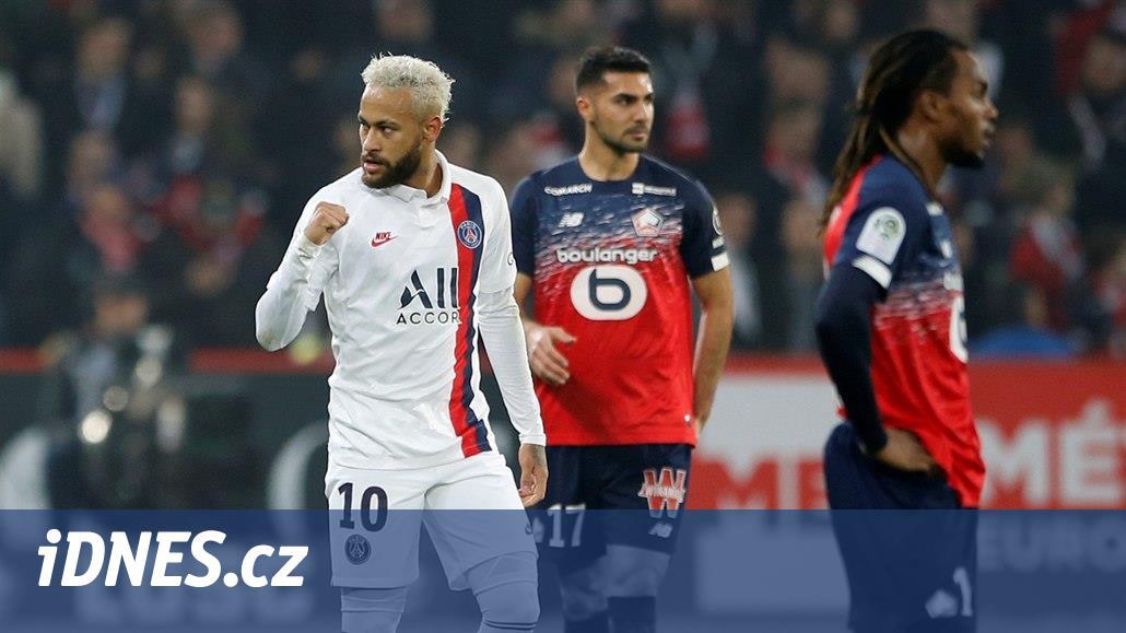 Neymar řídil výhru Paris St. Germain, Lyon zvítězil nad posledním