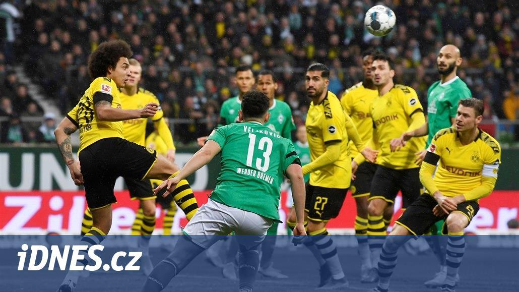 Dortmund vede v Brémách, Hertha dostává doma pátý gól