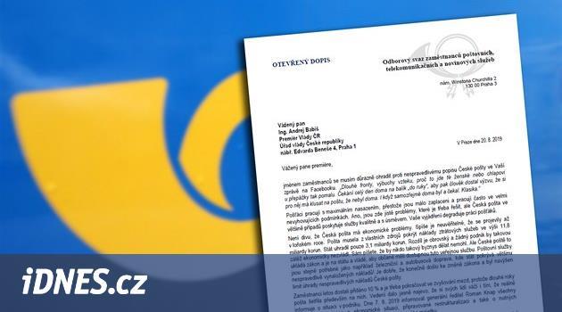 Česká pošta není mrtvá, brání se odboráři nařčení premiéra Babiše