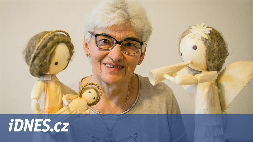 Lidová výtvarnice schovává Svatou rodinu do skořápek ořechů i škeblí