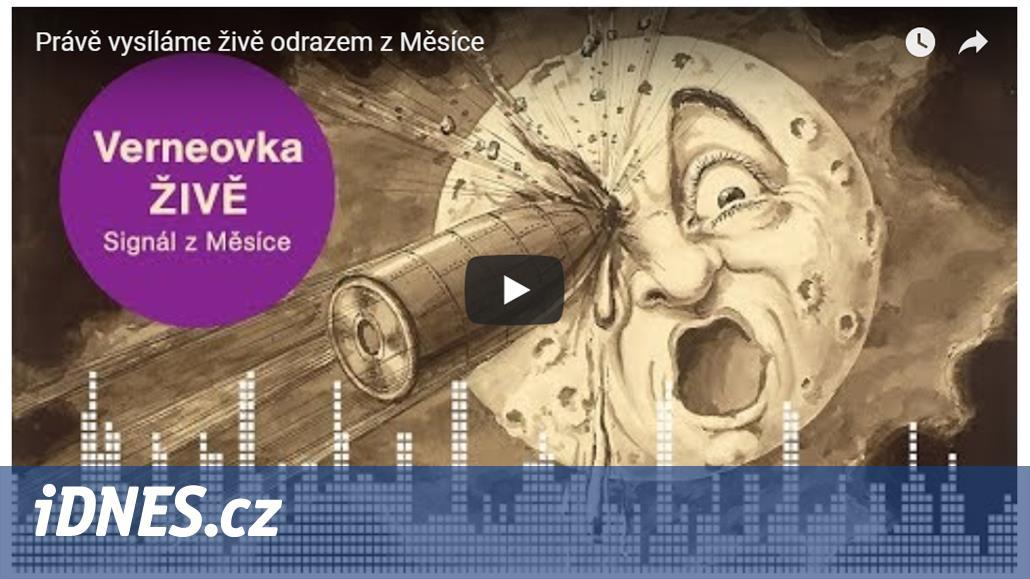 Český rozhlas slaví úspěch s první živě vysílanou hrou odrazem přes Měsíc