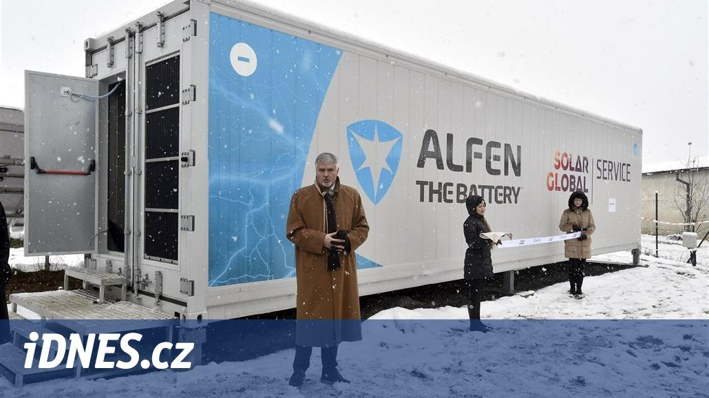 Česko má první velkokapacitní baterii s denní energií pro 150 domácností