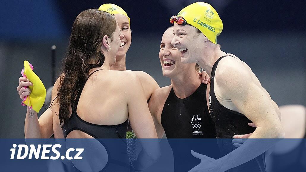 Australská štafeta kraulařek na 4x100 m ozdobila zlato světovým rekordem