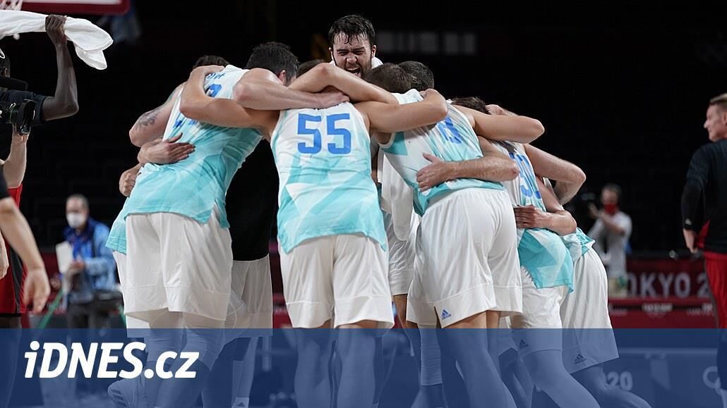 Basketbalisté Slovinska jsou při premiéře na olympiádě v semifinále