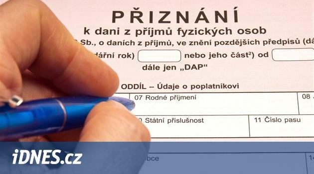 Daňové přiznání za rok 2015  stáhněte si interaktivní formulář - iDNES.cz 02ed2cf9f1f