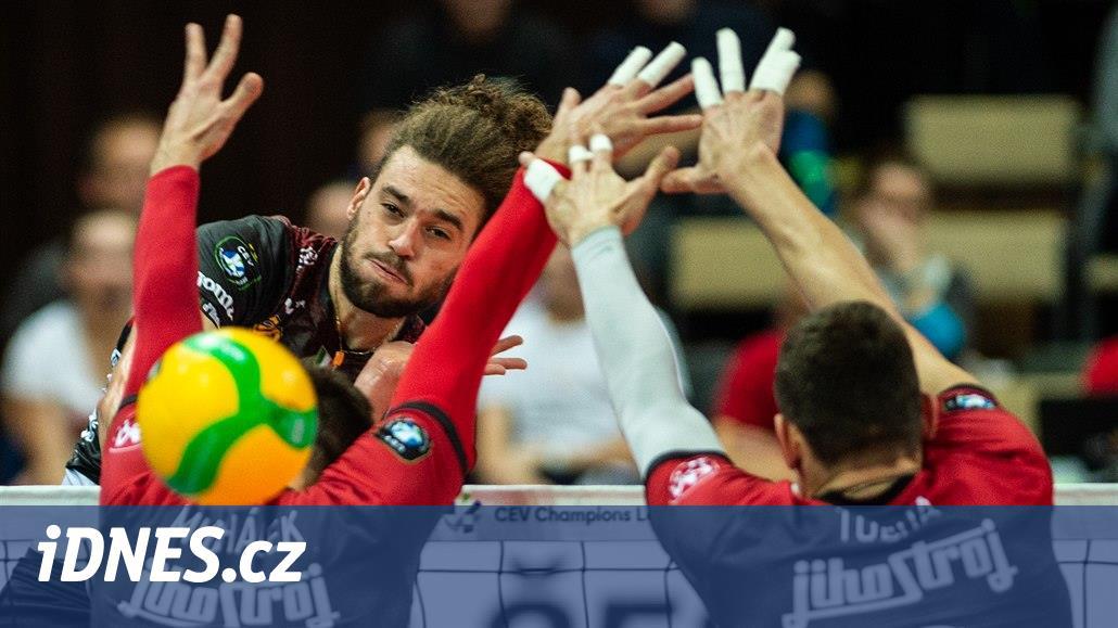 Českobudějovičtí volejbalisté v Lize mistrů vzdorovali obhájci titulu