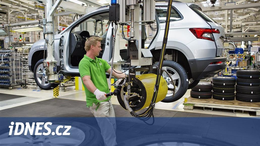 České automobilky jedou na plné obrátky, většina vozů jde na vývoz