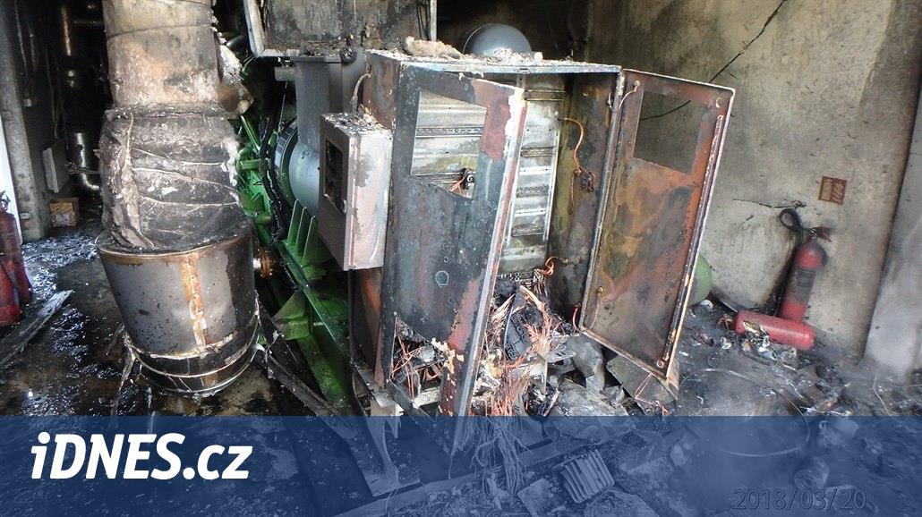 V bioplynové stanice na Plzeňsku vypukl požár, jeden muž se vážně popálil