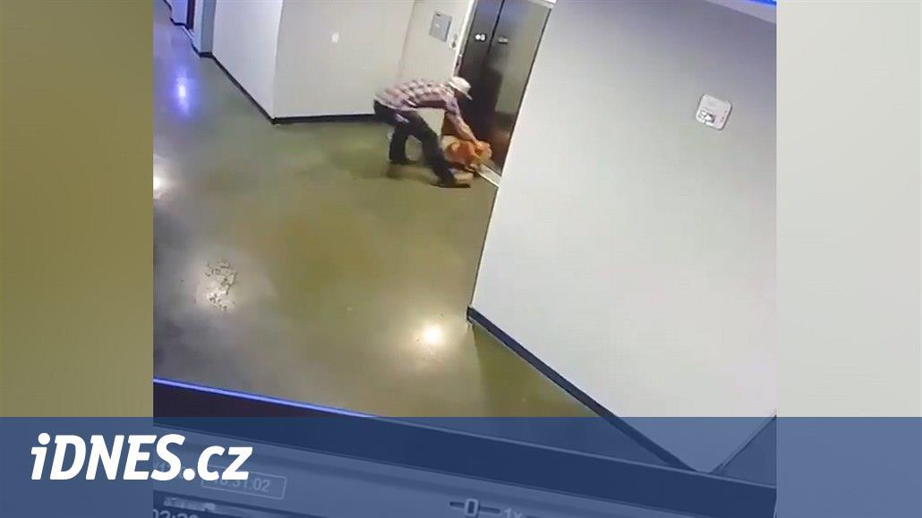 VIDEO: Muž zachránil škrtícího se psa, vodítko se zaseklo ve výtahu