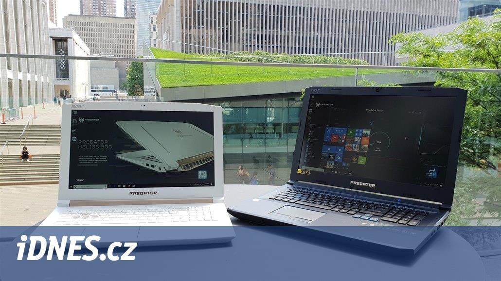 Herní notebook s Core i9 a cenově dostupnější herní desktop. Novinky Acer